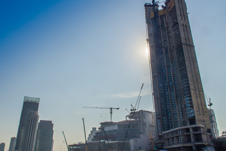 Bangkok, Thailand - December 21, 2017: Under construction of ICONSIAM project, a future mixed-use development on the banks of the Chao Phraya River in Bangkok, Thailand expected to open in 2018.