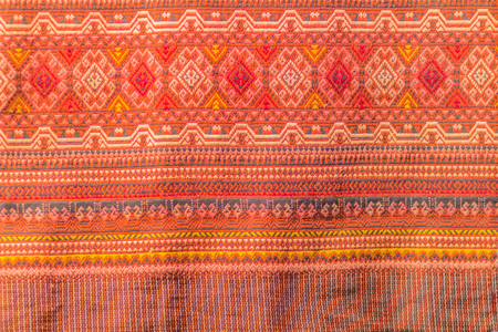 Beautiful patterned on the northern thai style garment and clothing for sale at the local flea market.
