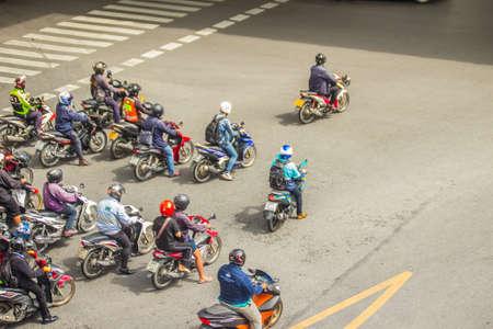 Bangkok, Thailand - September 5, 2017: Rush hour traffic in central Bangkok. Empty road in the center of Bangkok at rush hour. Flow without traffic jams in the big metropolis. Редакционное