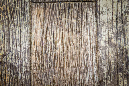 Pattern of weathered old gray tree trunk surface with annual rings. Rough surface texture of old wood with annual rings for background.
