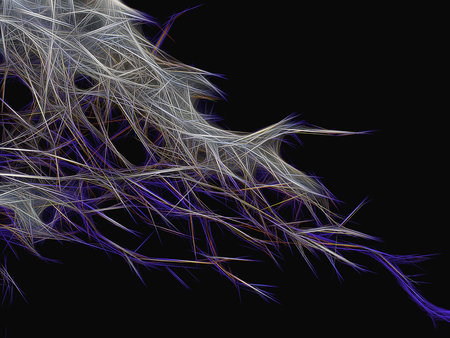 Abstract chaotic background of many threads and needles Stock Photo