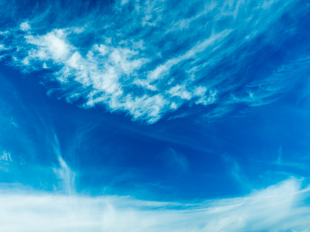 Beautiful clouds on a blue sky background in Sunny summer day