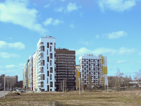 Residential neighborhood built on the outskirts of the city Banco de Imagens