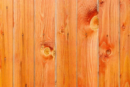 Wall of the house from pine wooden boards