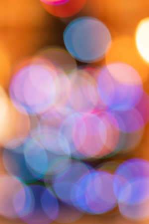 blurred bokeh. background with bright colored lights of Christmas and happy New year Archivio Fotografico - 114348901