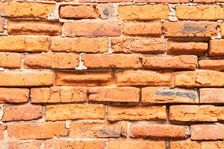 the old monastery wall built of red brick, brickwork texture, can be used for interior design Banco de Imagens