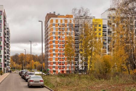 New modern low rise apartment complex. Moscow, Russia 스톡 콘텐츠