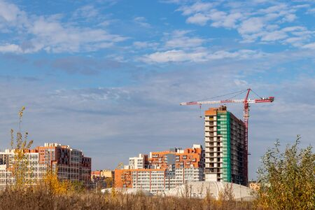 Construction of a modern residential complex. Residential complex Otrada, Moscow Russia