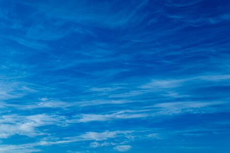 Sky background with white clouds on blue sky background on Sunny day, as a background