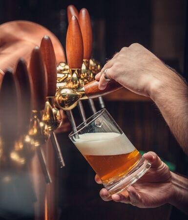 Traditional tasty and fresh beer Фото со стока