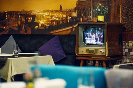 Vintage tv as a retro style decor piece