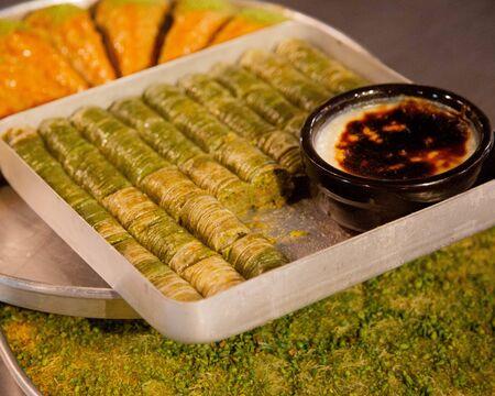 Turkish pakhlava with gazandibi dessert Stock fotó