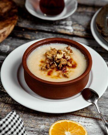 turkish traditional delight with walnut Stok Fotoğraf