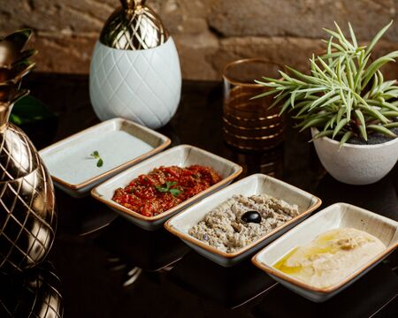 сold aperitifs served in small plates