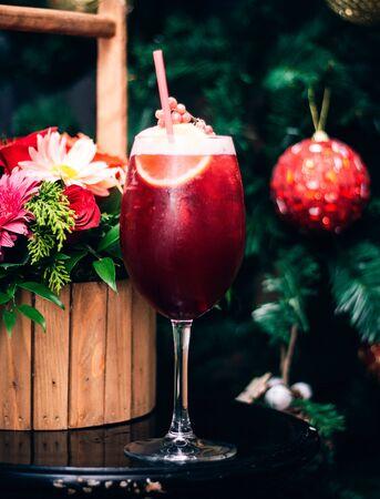 fruit juice with berries and citrus 版權商用圖片