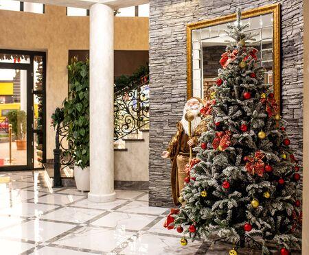 new year tree in lobby