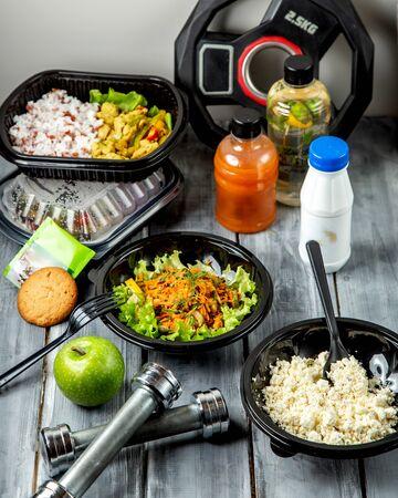 various salads in the floor 版權商用圖片