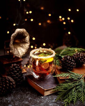 a glass of beverage with salt on top 版權商用圖片 - 144710851