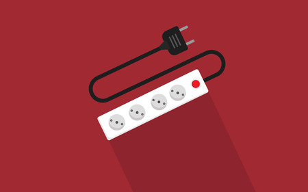 cords: Extension cords flat icon Vector.