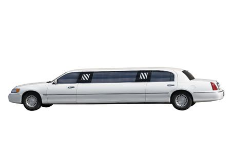 limousine: White limousine separately on a white background