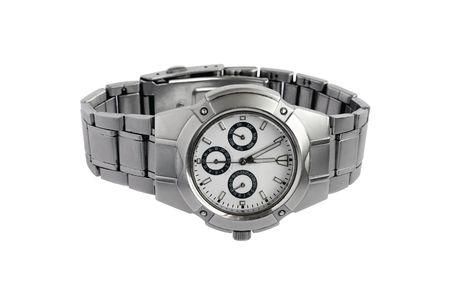 mans watch: Reloj de hombre aislado en un fondo blanco