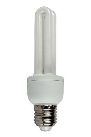 socle: �nergy-efficient bulb separately on a white background