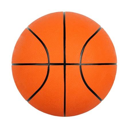 canestro basket: Palla arancione basket separatamente su sfondo bianco