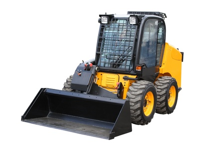 agricultural engineering: Yellow loader separately on a white background