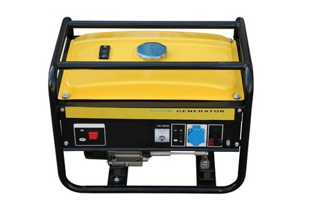 diesel generator: The portable petrol generator of a current separately on a white background