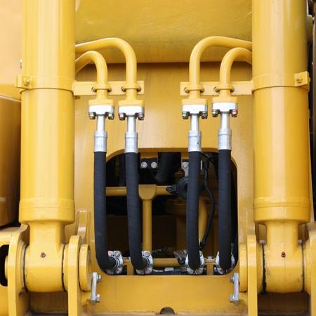 hydraulic hoses: Hydraulic hoses of a modern tractor