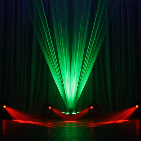 Illumination of a stage during a concert Stock Photo
