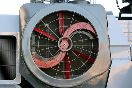 impeller: Impeller a radiator of cooling of a combine close up.