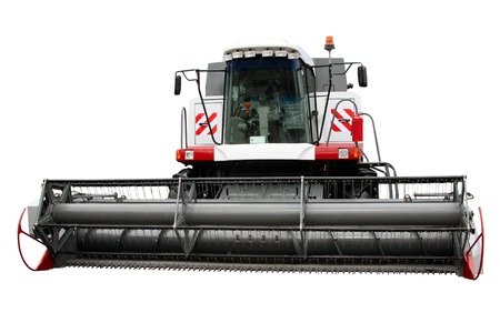 agronomics: Modern combine separately on a white background