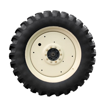 Tractor tire on white background Stock Photo - 15706059