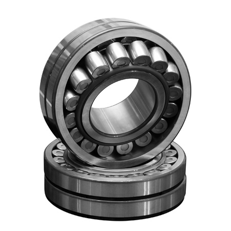 Two bearings separately on a white background