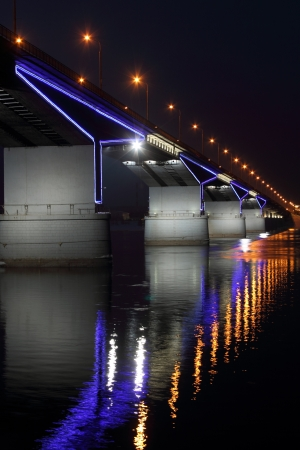 The automobile bridge in Perm  Russia