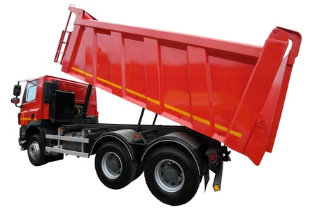 The lorry with the lifted body isolated on a white background Stock Photo - 19940168