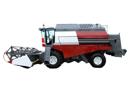 agronomics: Red modern combine separately