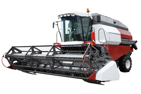 The modern harvester isolated on a white background photo