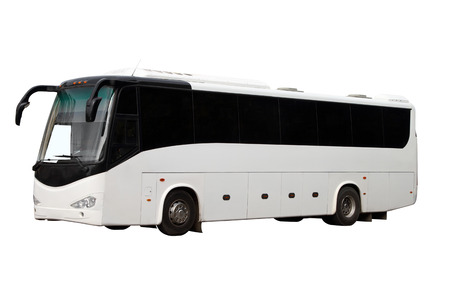 The excursion bus isolated on a white background Stock Photo