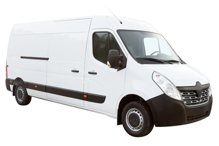 The modern compact van, is isolated on a white background