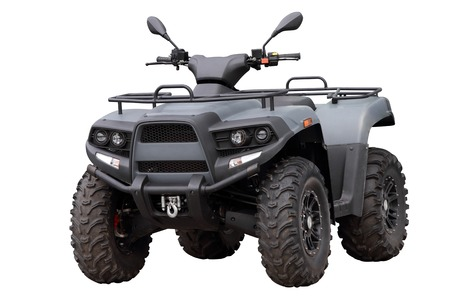 Powerful modern ATV, isolated on white background