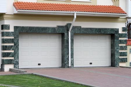 Garage door for 2 cars marble