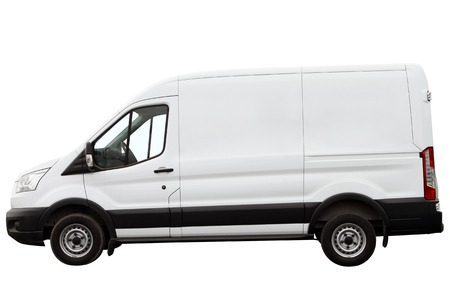 maneuverable: Modern compact minivan isolated on a white background.