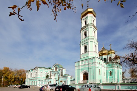PERM, RUSSIA-SEPTEMBER 23, 2015: Holy Trinity Cathedral in autumn day. Russia. Perm. Editorial