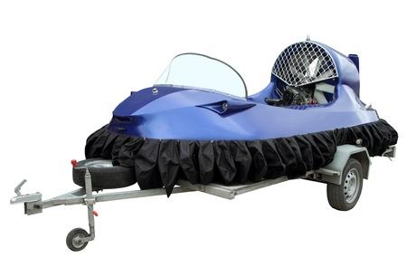 hovercraft: The hovercraft isolated on a white background.
