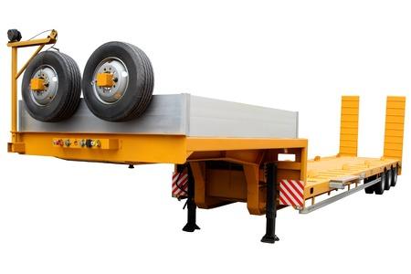 cargo transport: Modern trailer to transport cargo and equipment.