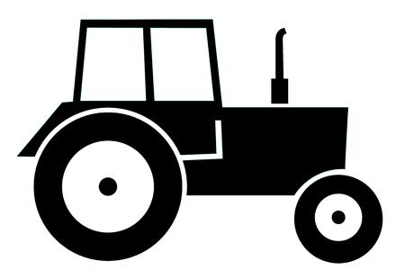 agronomics: Vector illustration of black modern Tractor. Illustration