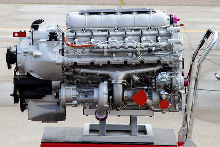 Modern air-cooled engine with turbocharger.