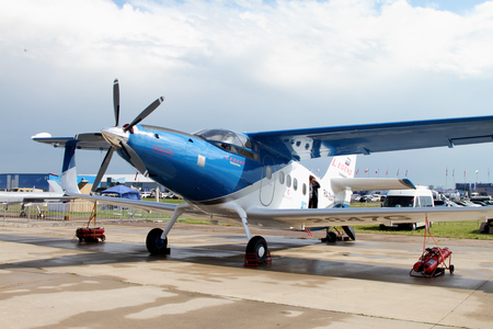 Moscow Region - July 21, 2017: Easy multi-purpose pilotaircraft AN-2 TVS-2DT